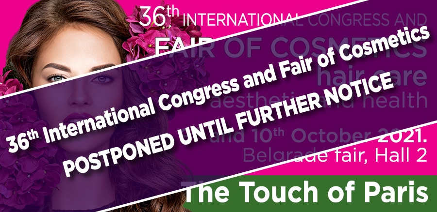 The 36th Cosmetics Fair in Belgrade has been postponed until the end of November 2021.